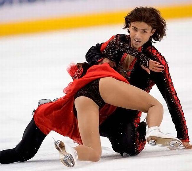 【ハプニングエロ画像】フィギュアスケートが変態歓喜の競技だったw