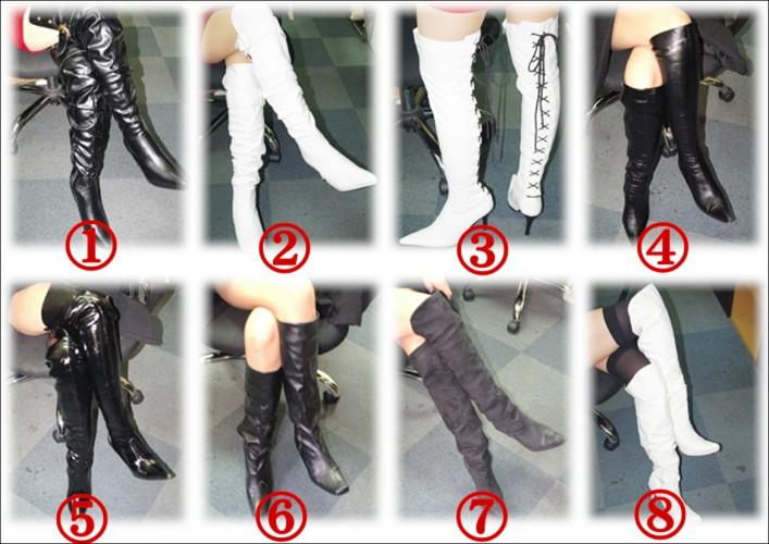 黒ブーツ×白ブーツ ラインナップ
