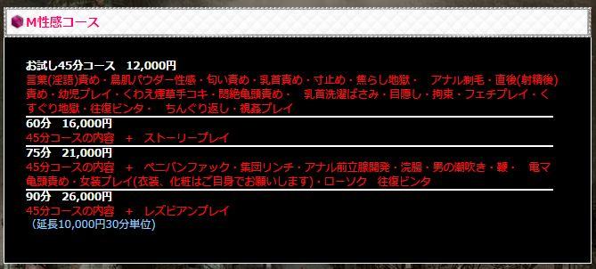 渋谷 高級デリヘル SMクラブ グラウンドゼロ M性感コース