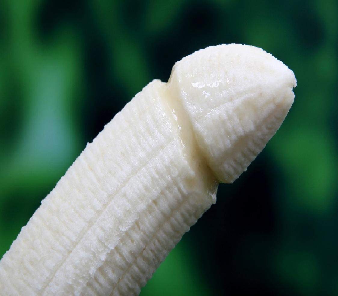 ペニスをかたどったバナナ